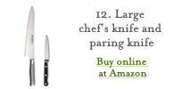 Large Chef's Knife and Paring Knife