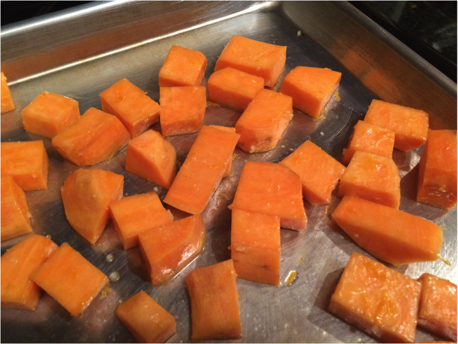 Sweet potato not cooked