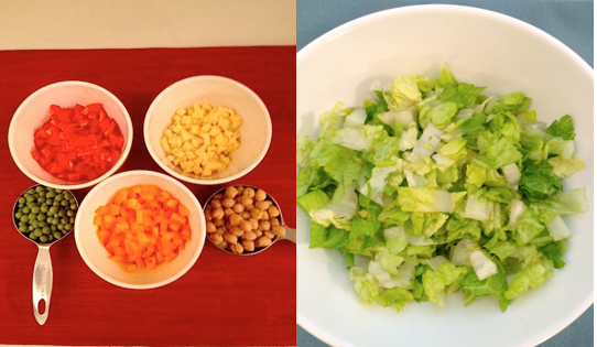 Chopped Salad Ingredients