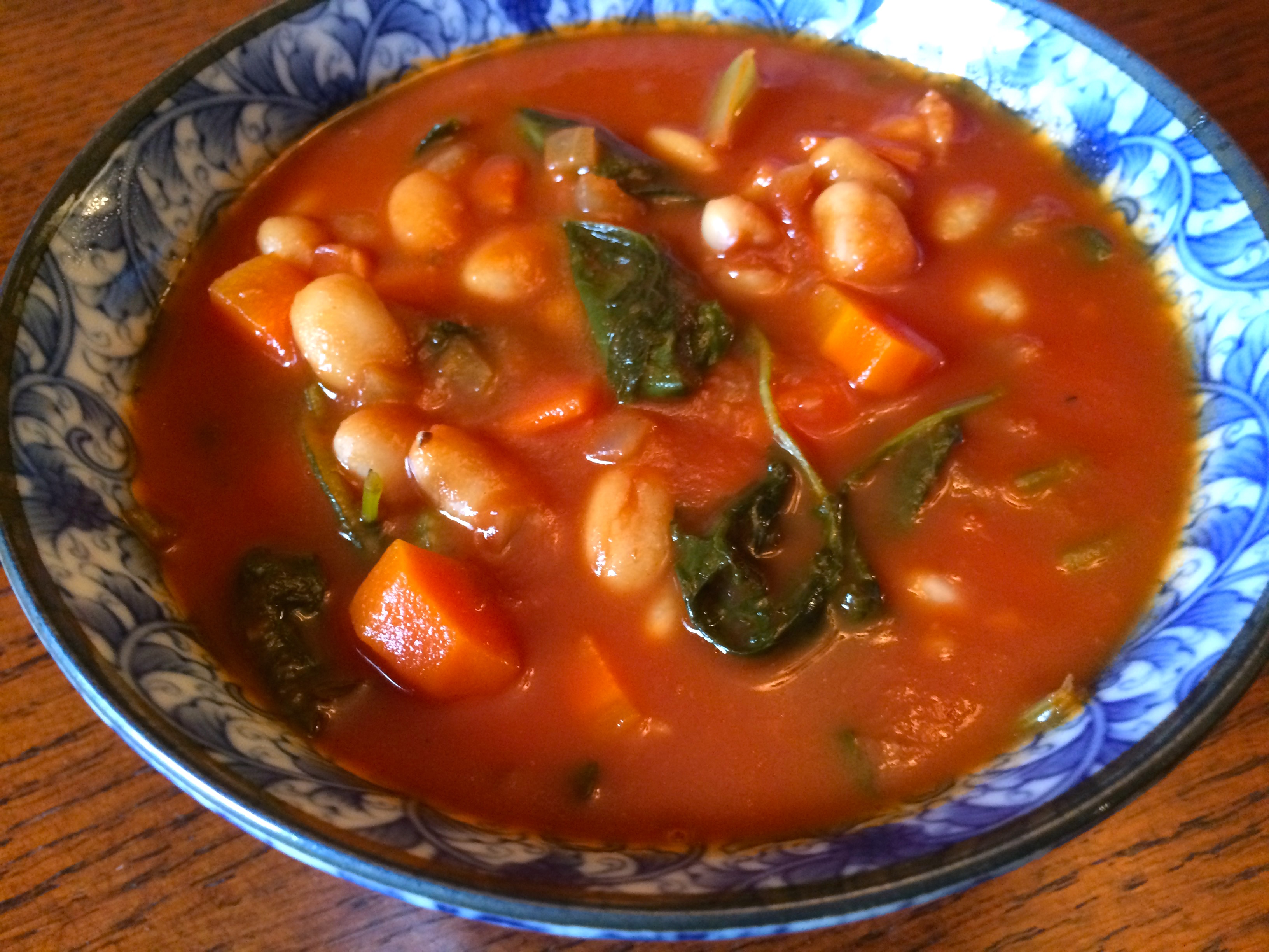 Kale, Tomato, and Cannellini Bean Soup