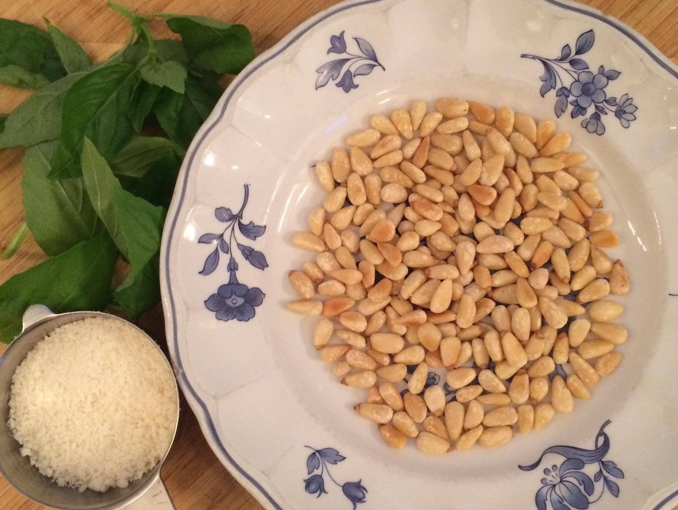 Basil, Pinenuts,Parm Crop