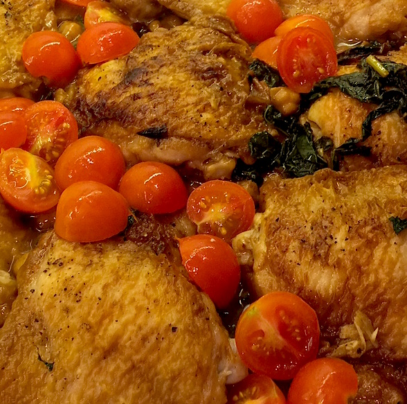 Skillet chicken crop