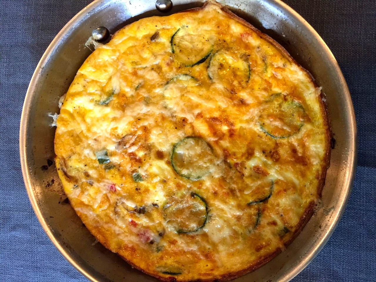 finished frittata in skillet